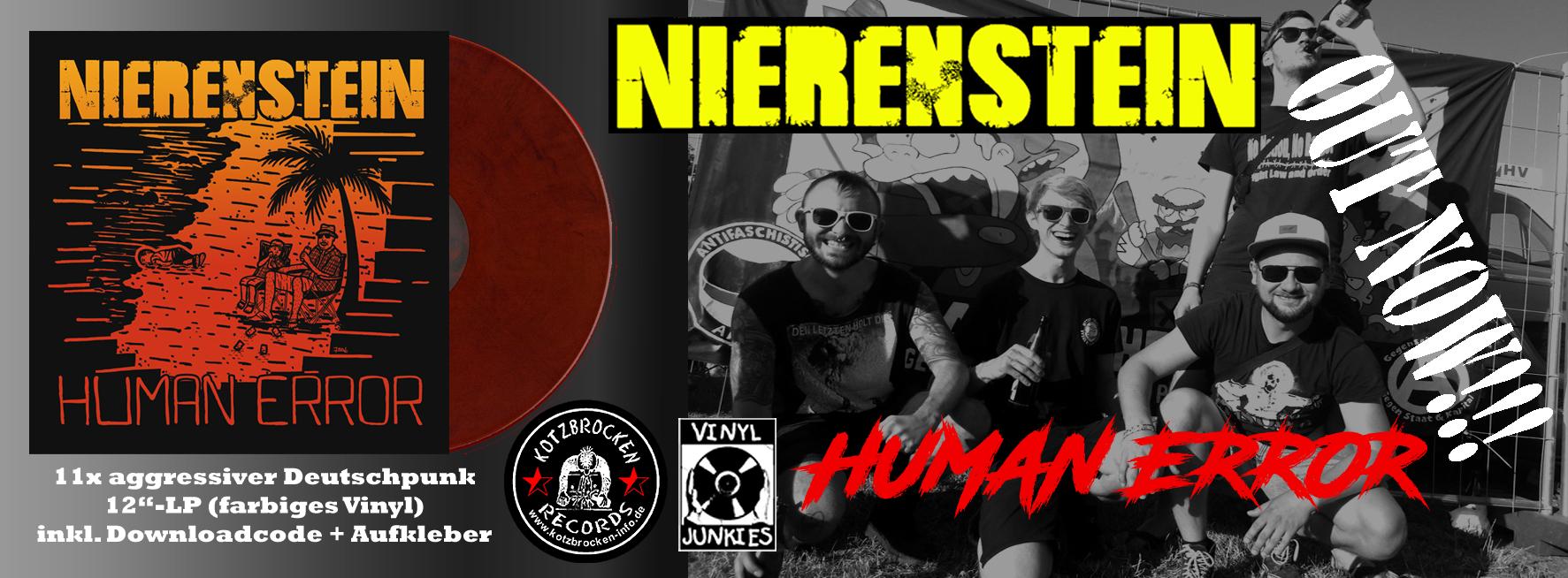 NIERENSTEIN - Human Error (LP + MP3 / farbiges Vinyl)