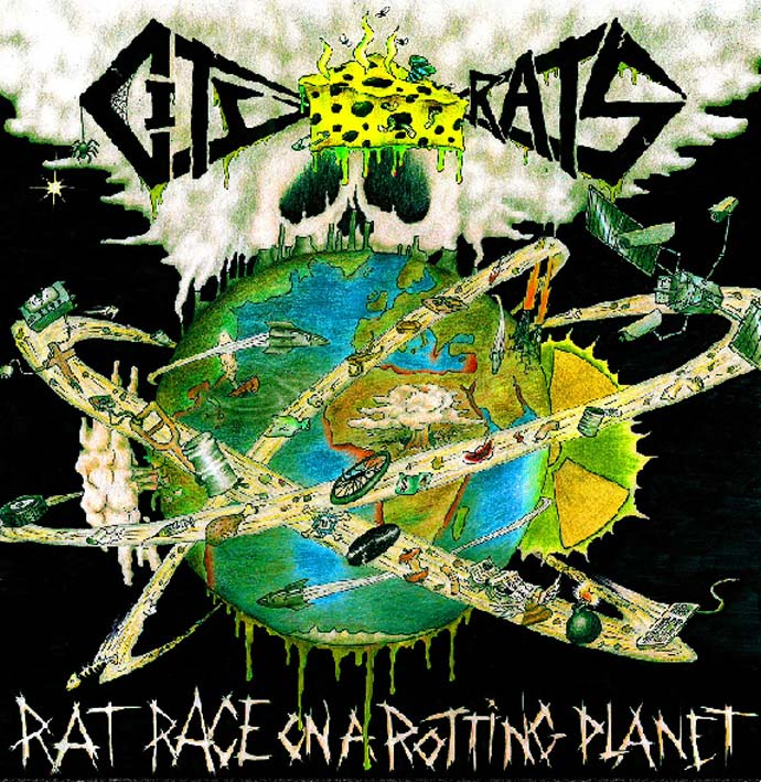 "CITY RATS - Rat Race on a Rotting Planet (12""-LP) 